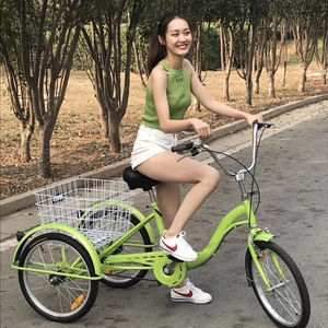 Factory Sale High Quality Popular Aluminum Alloy 24 Inch Tricycle Human Fat Tire Electric Tricycle