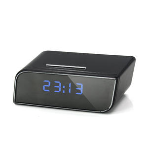 Enster New Hidden WiFi 2.0MP Camera Clock HD 1080P Motion Detection Activated Alarm Wireless Spy Camera