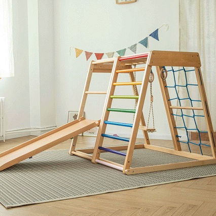 Pikler Triangle Climber Kids Climbing Pikler with ramp foldable pikler slide climbing toys for toddlers climbing frame ladder