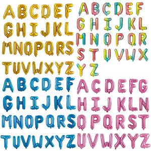cheap price free simple decoration party 16 inch balloon alphabet letters ballon foil