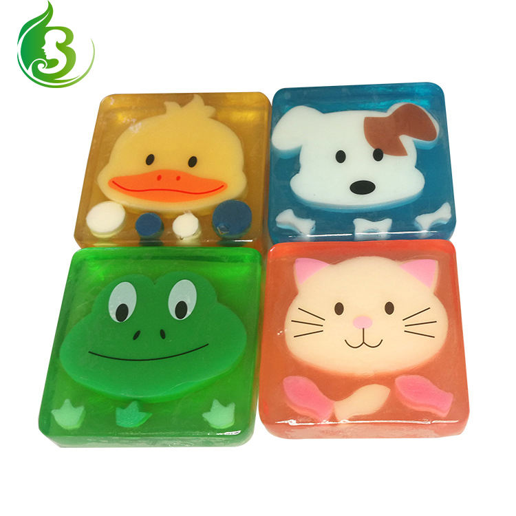 Manufacturer custom children cartoon bath soap animal handmade soap moisturizing essential oil soap