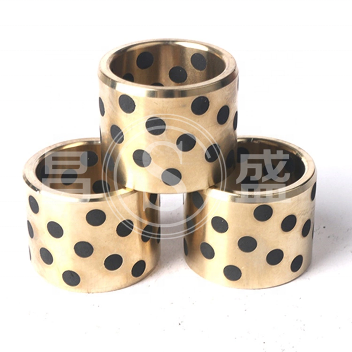 Graphite embedded self-lubricated bushing plain brass bearing