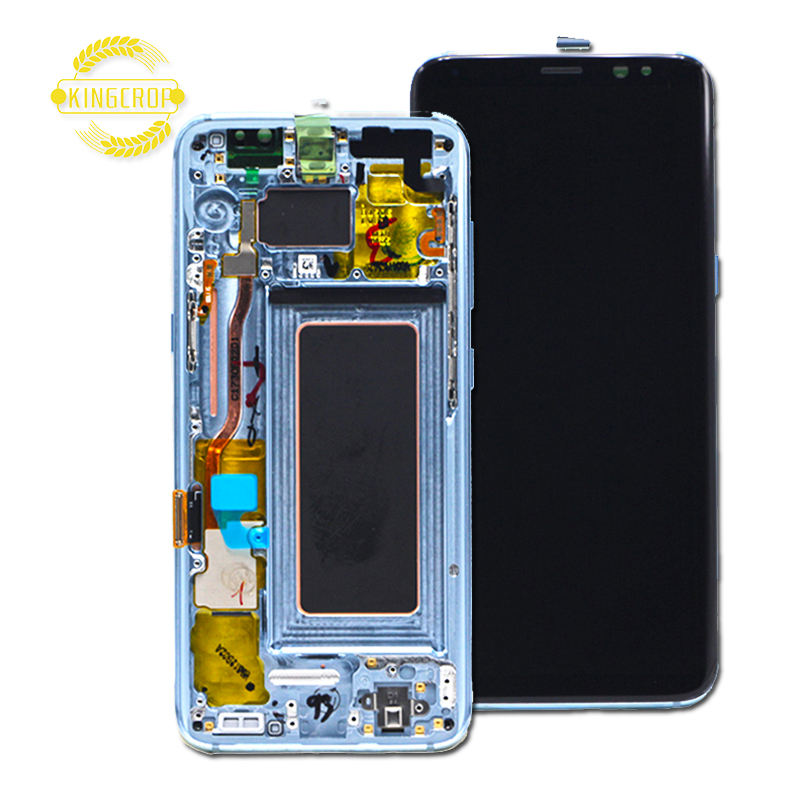 Wholesale original mobile phone lcd for Samsung galaxy S8 S8 plus lcd Display Touch Screen Assembly for Samsung S8 S8 plus+frame