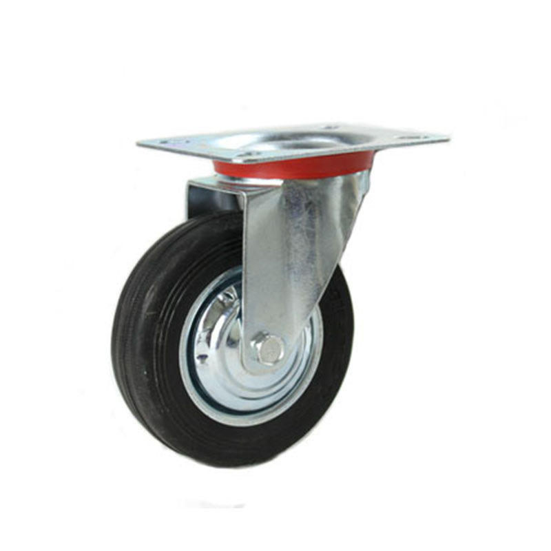 Chinese factories produce industrial cart wheels.5 inch rubber wheel ball casters heavy duty
