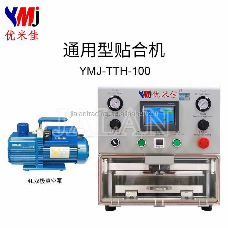 YMJ tablet LCD laminating machine glass oca laminator mobile phone LCD repair machine no need autoclave for iphone 8 8p x xs max
