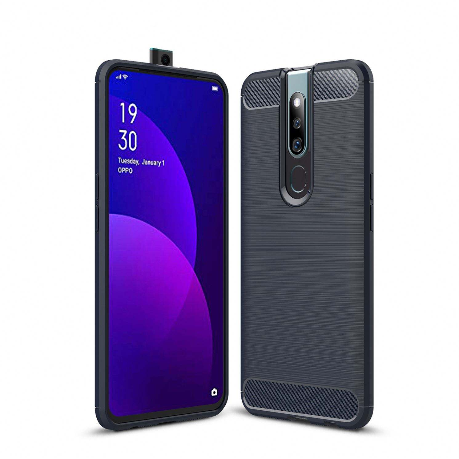 Newest Fashion Shock Resistant Carbon Fiber TPU Mobile Phone Cases Cover For Oppo F11 Pro Back Cover