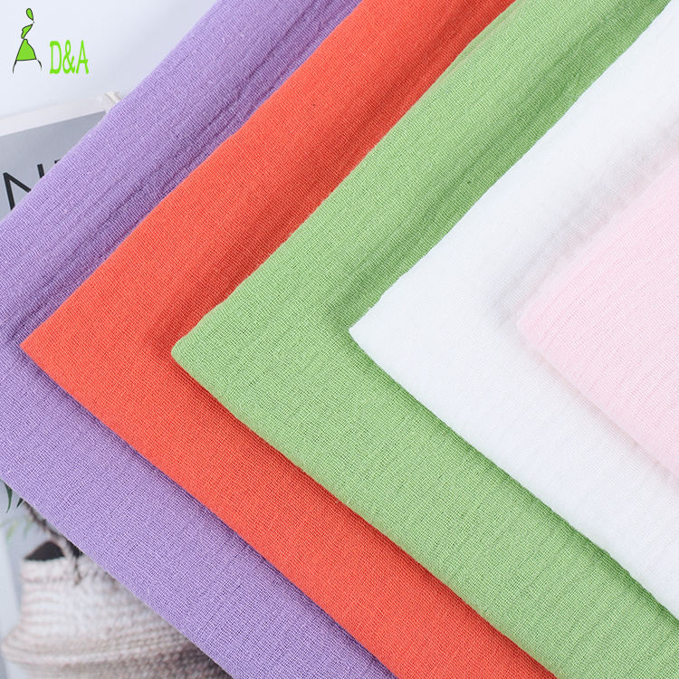 Mois-ture absorption woven dyed muslin double gauze cotton fabric for pajamas