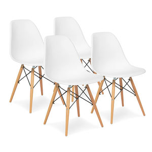 Tianjin Contemporary Modern Cheap Dinning Chair Cadeira Wooden Legs Plastic Dinner Kitchen Dining Chairs For Sale