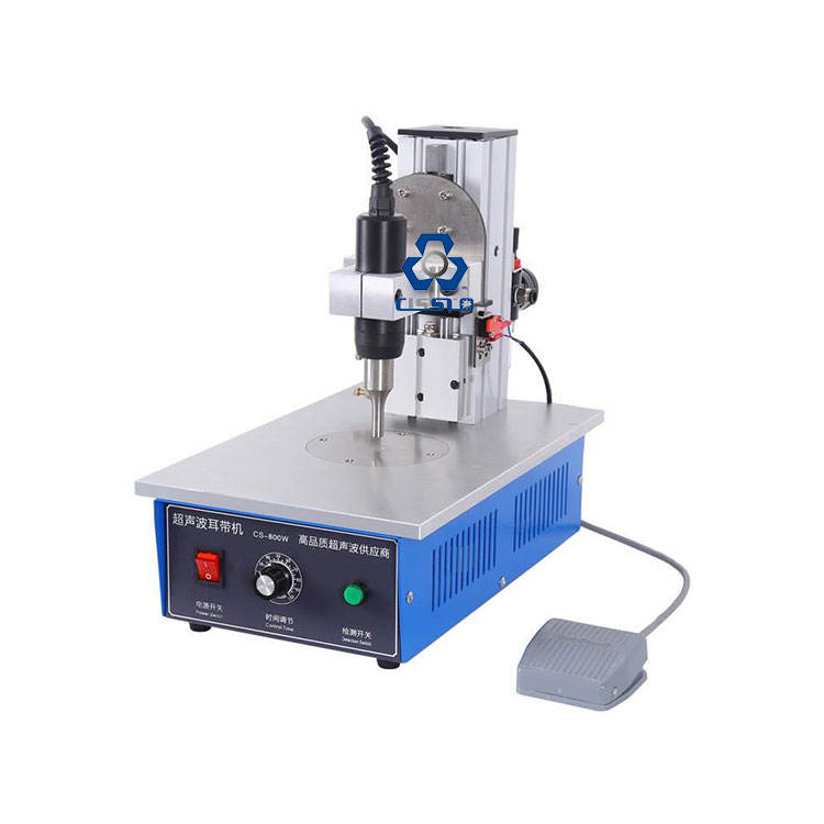 HALF AUTOMATIC MANUAL NONWOVEN DISPOSABLE FACE MASK EAR LOOP BELT ULTRASONIC SPOT WELDING MACHINE