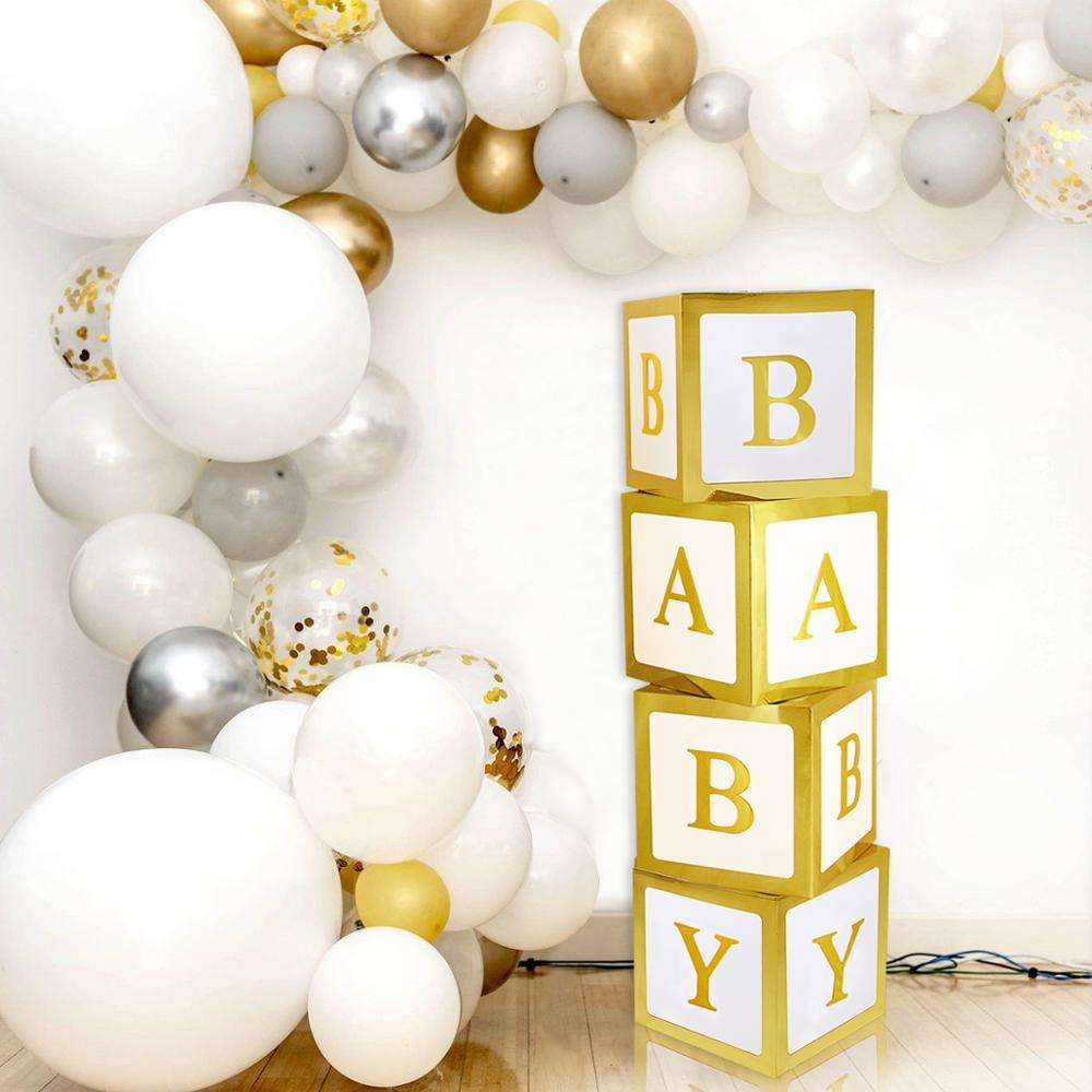 QIFU Baby Shower Box Decorations Balloon Box Birthday Party Decorations