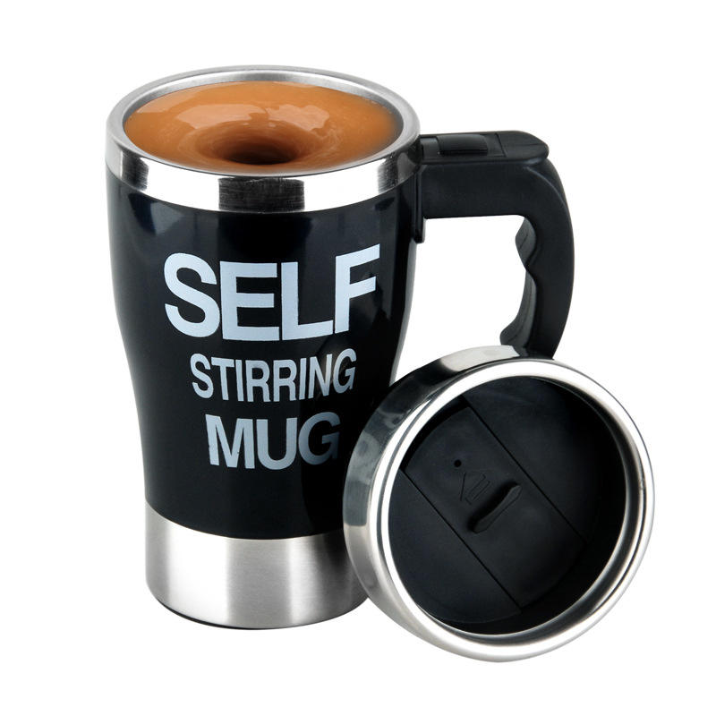 Auto Electric Stainless Steel Travel Mixing Drinking Cup Self Stirring Coffee Mug