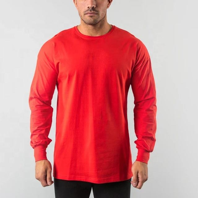 New style OEM Men Fitness Wear Long sleeve Sport Shirts Athletic Apparel Manufacturers