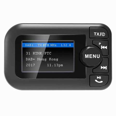 Radio FM Mini Portabel BT4.2, Radio Digital Fm Handsfree FM Pemancar Mobil <span class=keywords><strong>Bluetooth</strong></span> Kit Handsfree Mendukung Preset 60 Stasiun