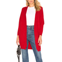 Open Front Long Thin Slim Fitness Red Amazing Jumper Coat Casual Knitwear Long Sleeve Custom Knit Cardigan Women Sweaters Dress