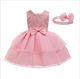 D0116 Ready Made Kids Girl Dress Baby Fancy Frock Design Newborn First Birthday Party Dress 1 Year Old Girl