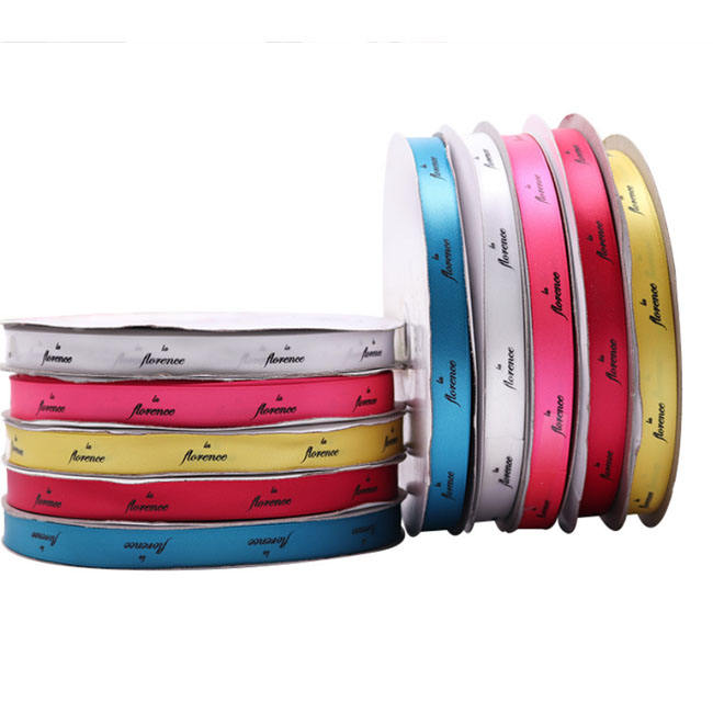 promotional advertising polyester customized gift satin ribbon with logo
