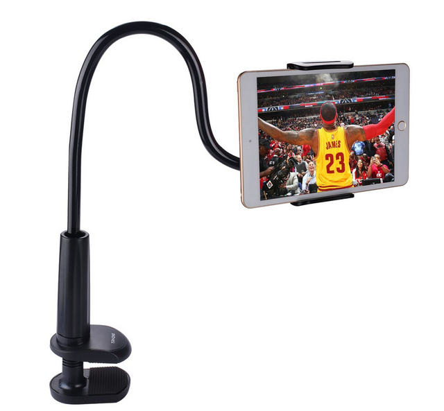 new style colorful china gooseneck tablet holder,bedside bracket phone clip holder