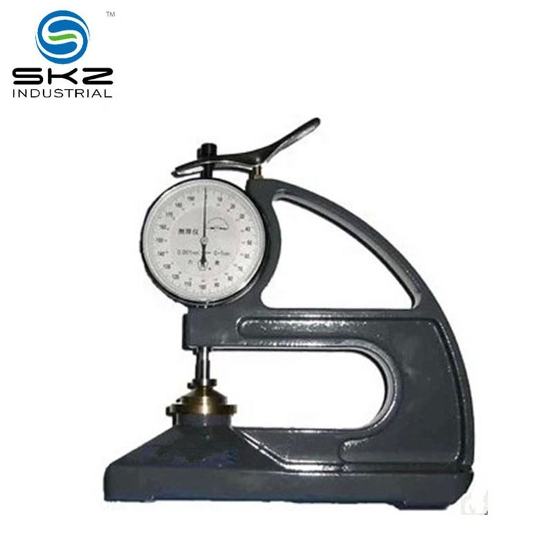 high accuracy rubber plastic film 0.01mm thickness gauge laboratory measuring instrument