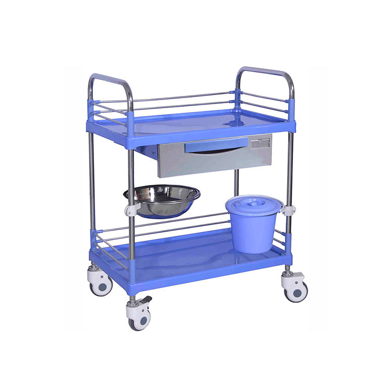 Medical trolley hospital ABS dressing clinical procedure trolley for patient