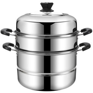 Kitchen appliances industrial steamer cookware 3 tier stainless steel cooking pot with bakelite handle