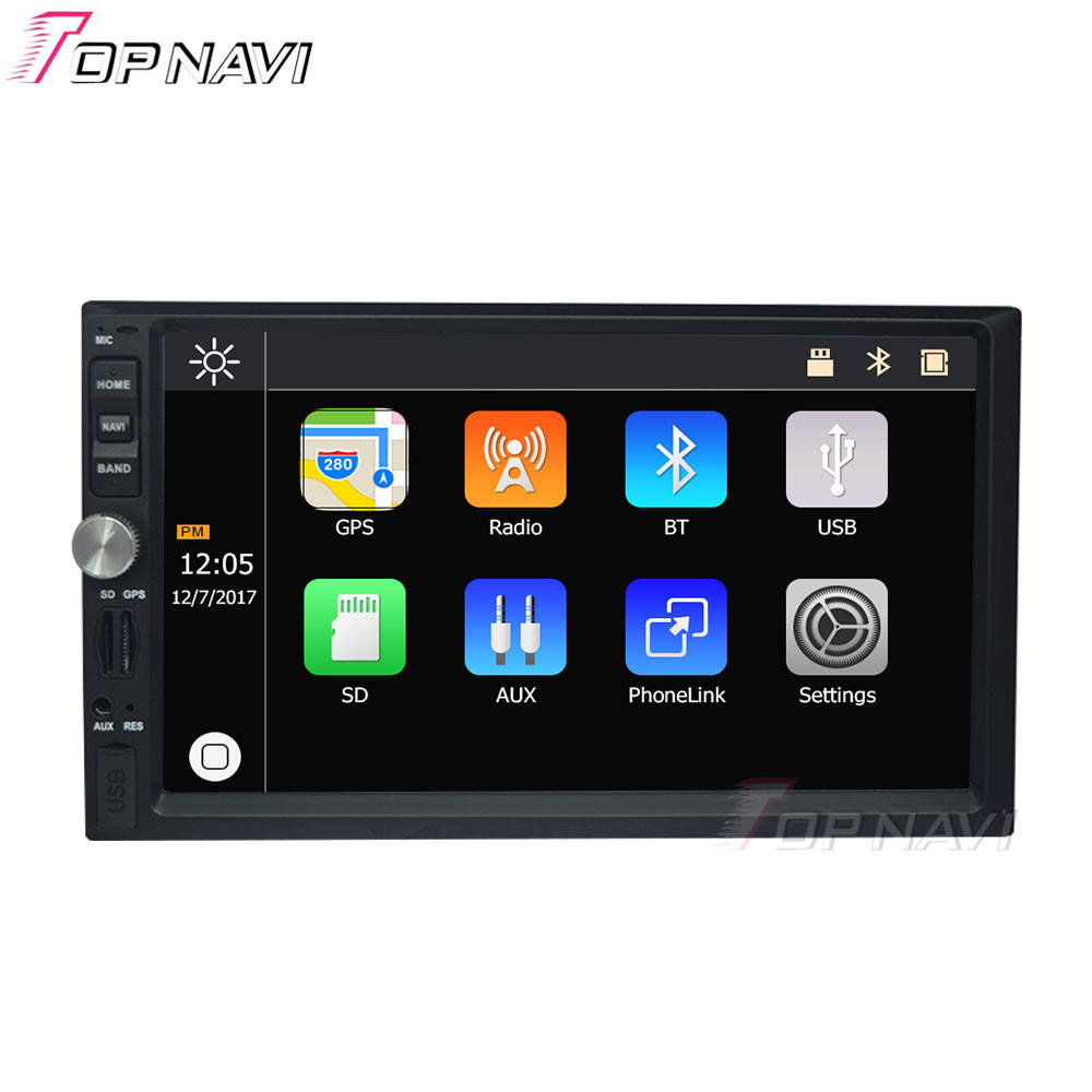 7 Inch Autoradio Multimedia MP5 Player 2 Din Touchscreen Auto Radio Audio Stereo <span class=keywords><strong>Bluetooth</strong></span> USB TF FM AM Auto radio GPS MP5