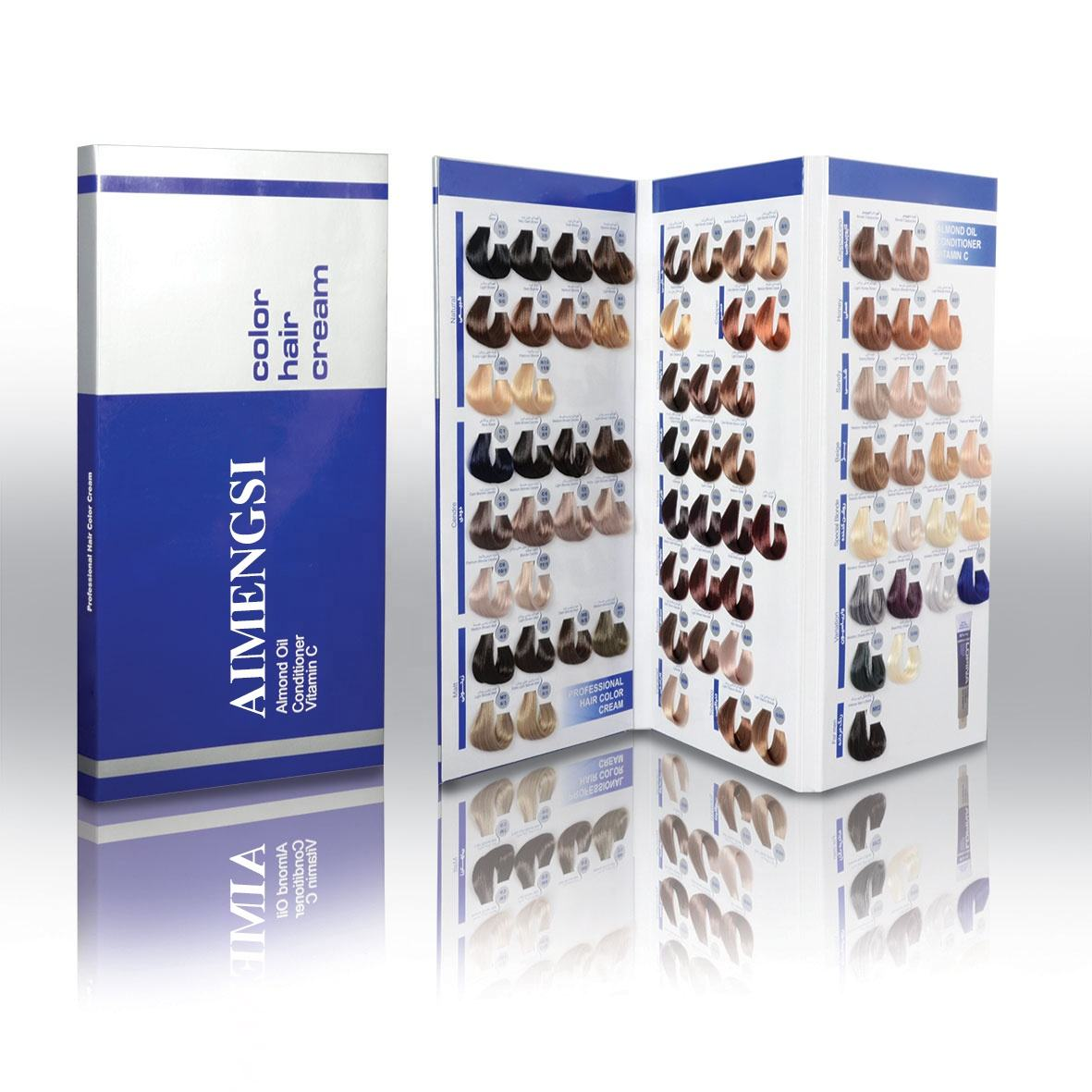 private label professional salon silky hair dyecolor catalog hair color chart manufacturer