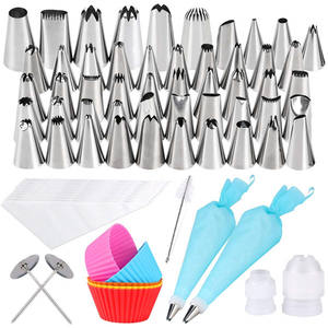73 Pcs 304 Rvs Piping Nozzle Tip Sets Plastic Gift Box Cake Decorating Tip Set