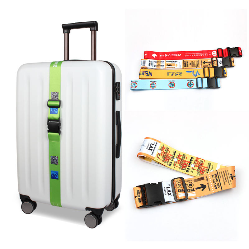 Polyester Material Luggage With Custom Logo Fashion Suitcase Belt