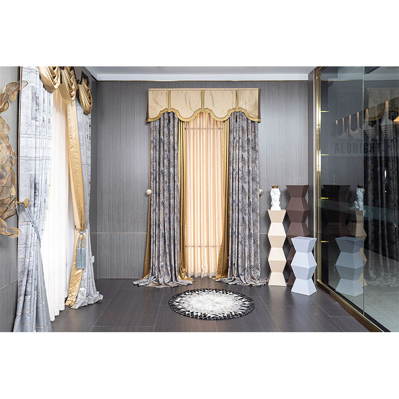100% polyester blackout custom modern luxury jacquard Living room european style curtains