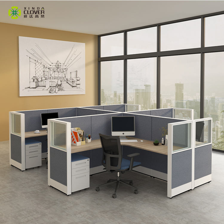 High quality hot seller in America modern 4 person office computer workstation desk for staff