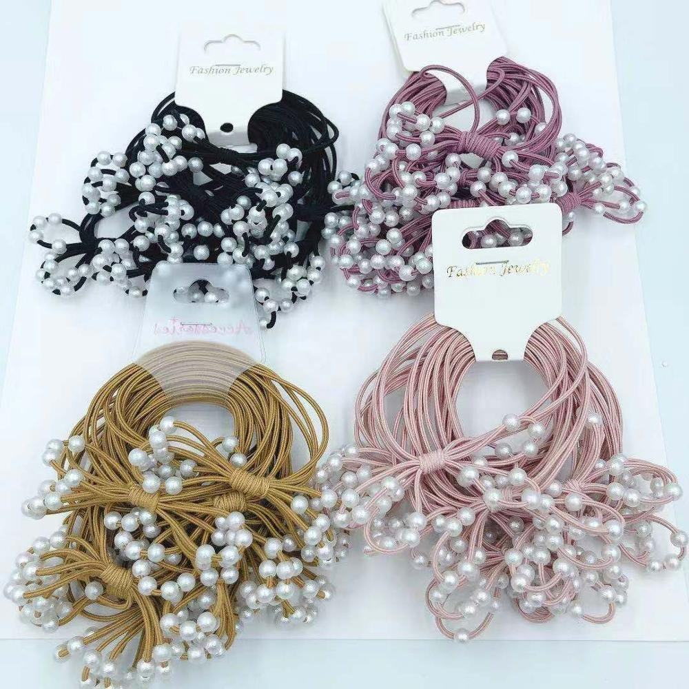 Wholesale Highly Welcomed Hair Accessories Type OEM/ODM Elastic Braided Hair Tie Rubber Hair Bands