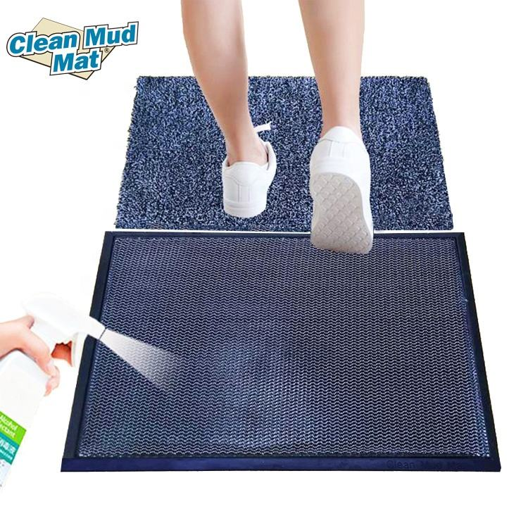 Sanitizing 3D Elastic Polyester Mat With Rubber Base Easy To Clean Sterilant Mud Cleaning Disinfection Mat