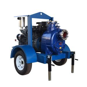 Agriculture irrigation equipment diesel water pump with trailer