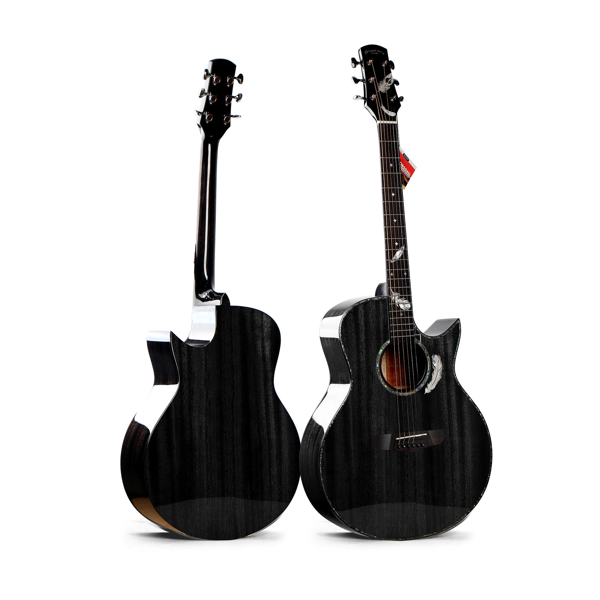41 inch Top grade spruce solid new design acoustic guitar hand made high quality artful guitar W-M7