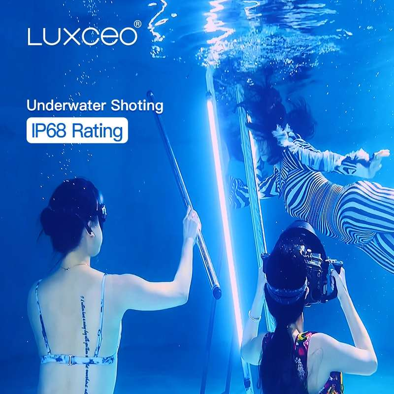 NEW LUXCEO P120 18W RGB Remote/APP function Underwater LED Film Lighting Photographic Lamp LED Video Light Tube for Filming 4ft