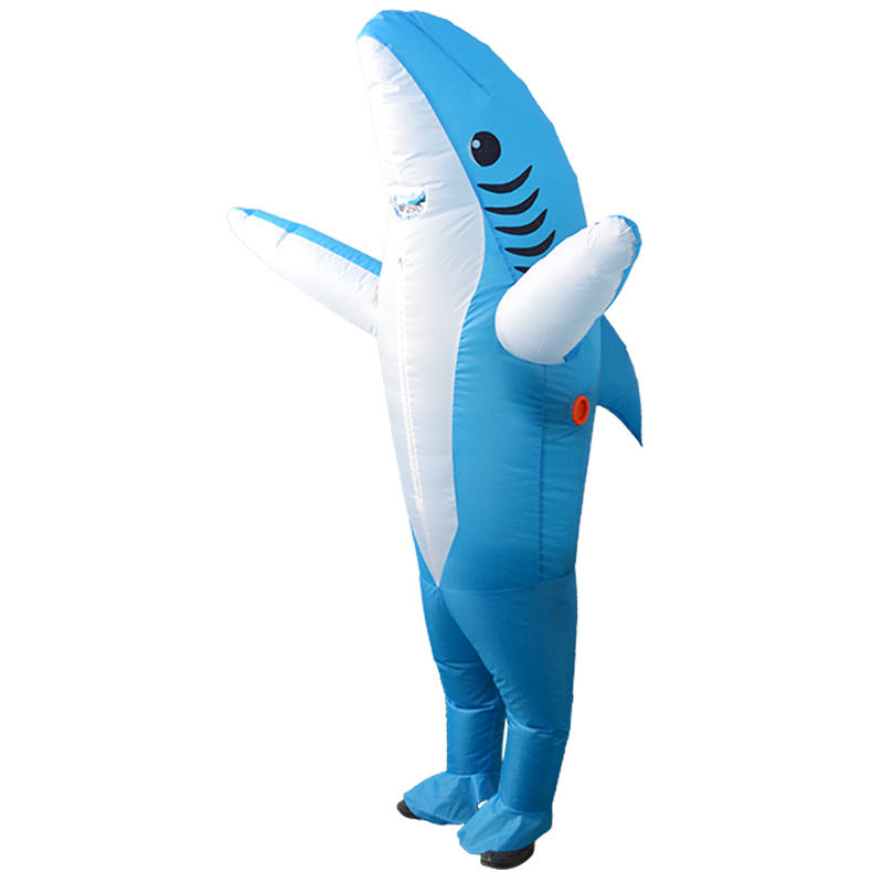 Adult size halloween fancy dress costume the great white full body inflatable shark costume