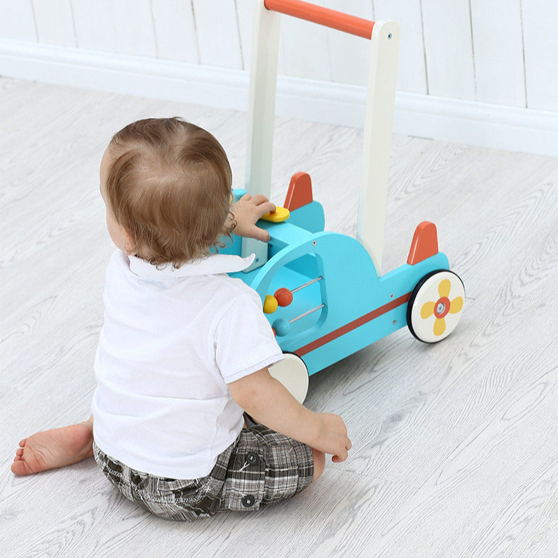 2020 Children Toy Educational Push Walker Child Walker Rollator Learning Wooden Safety Children Walker