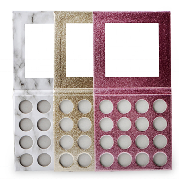 New Arrival Private Label Make Up Cosmetics marble design eyeshadow palette DIY eyeshadow magnet box