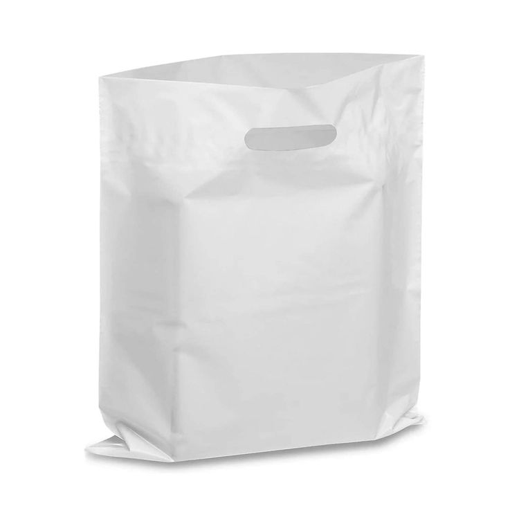 Wholesale White Custom Printed Plastic Shopping Bags with Logo
