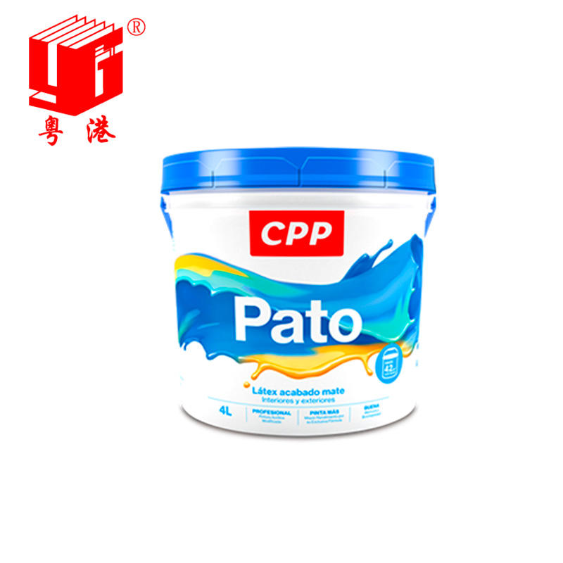 Plastic iml paint bucket label in mold labeling bucket