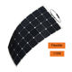 Lightweight Salt water proof SunPower cells 110w 12v Semi flexible solar panel for RV boat car charge