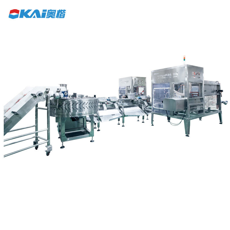 United States [ Line ] Customization Sealing Vacuum Packing Machine Line For Sausage Meat Ham Food