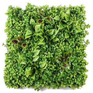 Ruopei factory 50*50 cm plastic artificial boxwood hedge for office waiting room decor