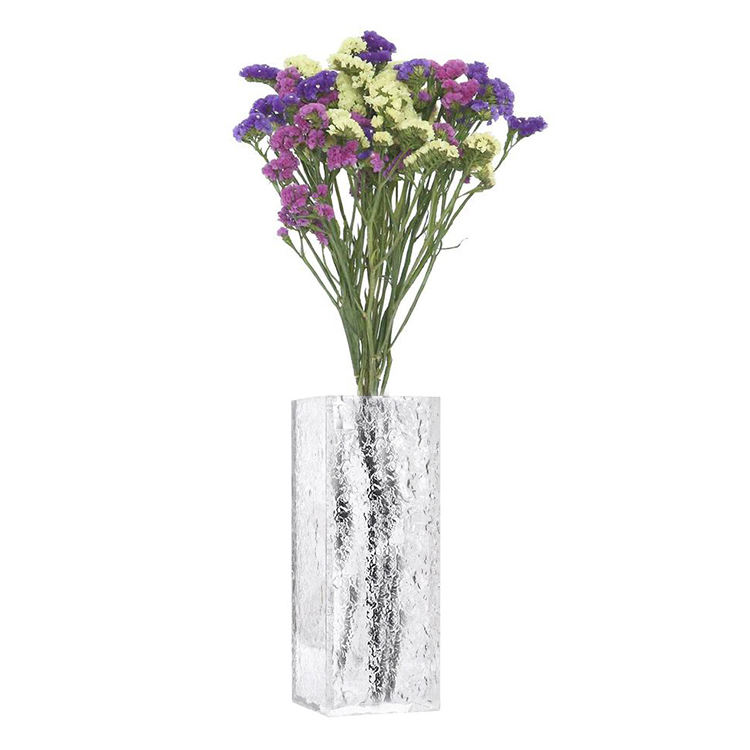 Decorative glass acrylic transparent glass square simple test tube vase