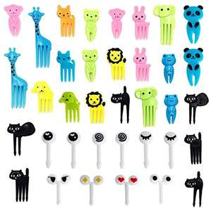 Wholesale Non Toxic Eco Friendly Bento Box Decoration Cute Animal Plastic Food Fruit Picks 10pcs cupcake decorating Forks Set