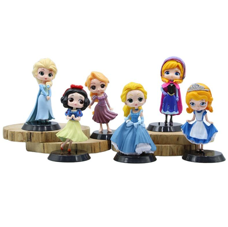 (Wholesale) High Quality Newest Q series Froze Princess Snow white 6pcs/set PVC Action Figure Toys For Gifts
