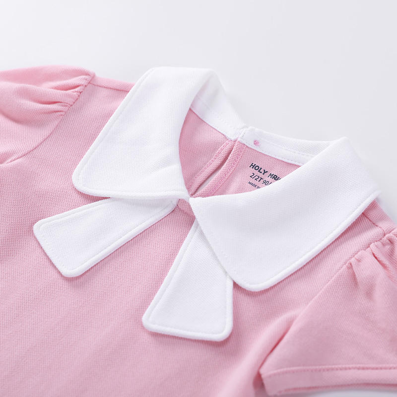 Wholesale Blank Cute Girl Cotton Short Sleeve Birthday T Shirt With 3 Color
