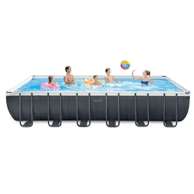 Wholesale Intex 26364 Family Rectangular Frame Above Ground Steel Frame PVC Swimming Pool