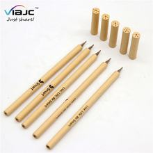 biodegradable logo custom flower pattern cap metal tip rolling recycled craft paper eco friendly pen