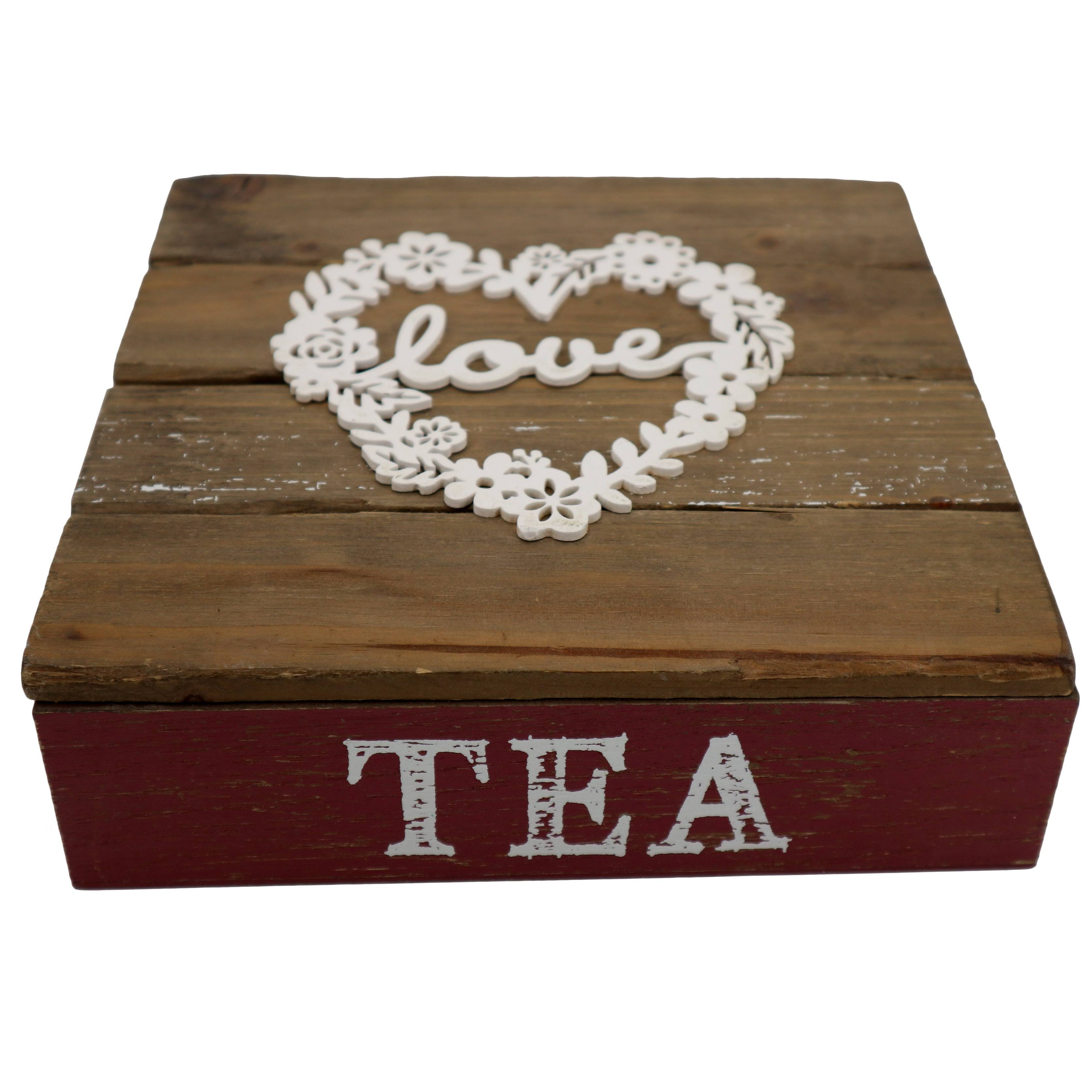 Solid Wood 9 Compartments Wood Tea Box Packaging